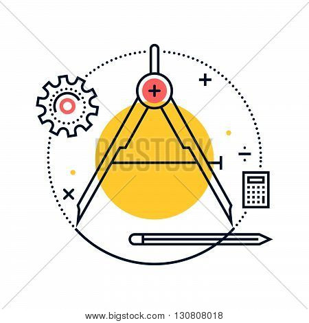 Color Line, Precision Concept Illustration, Icon