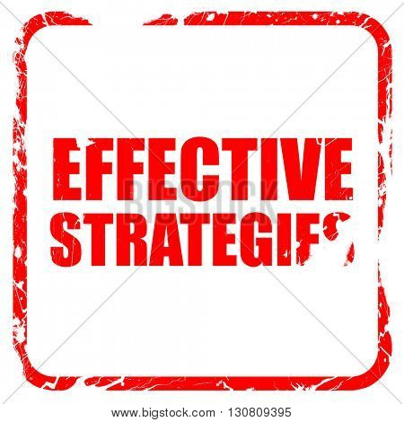 effective strategies, red rubber stamp with grunge edges