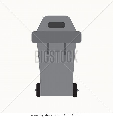 Waste sorting garbage bin isolated vector. Waste management and recycle concept with waste bin isolated. Separation of waste trash bin isolated. Sorting recycling waste can. Gray garbage can vector.
