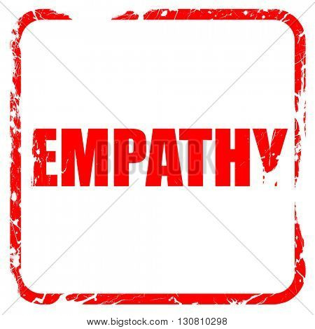 empathy, red rubber stamp with grunge edges