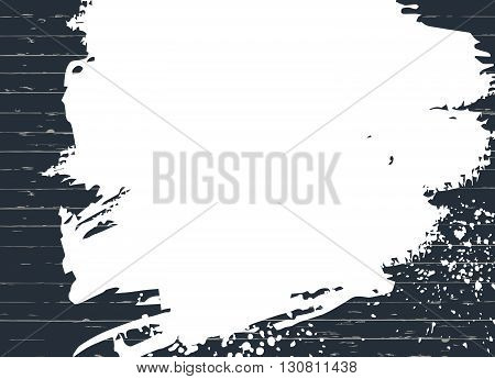 Vector blue wood texture with spots of white paint. Background, place for text.