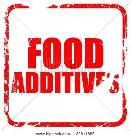 food additives, red rubber stamp with grunge edges
