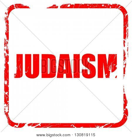 judaism, red rubber stamp with grunge edges
