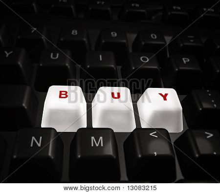 Buy now button on a keyboard