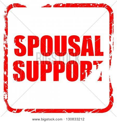 spousal support, red rubber stamp with grunge edges