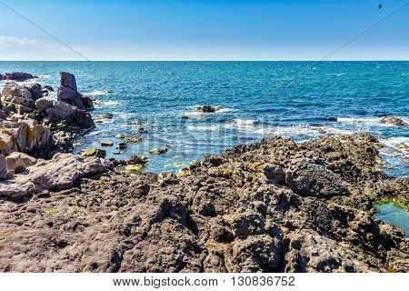 Sea Landscape On The Rocky Coast