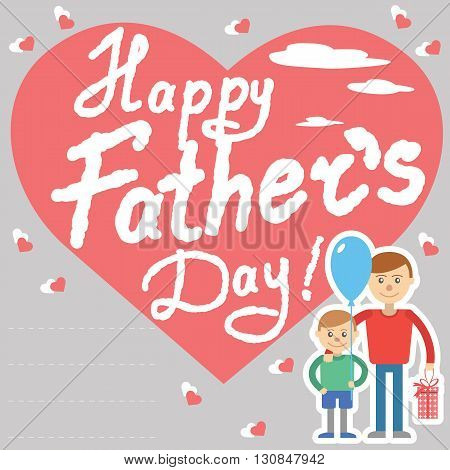 Father and son vector illustration for father day holiday