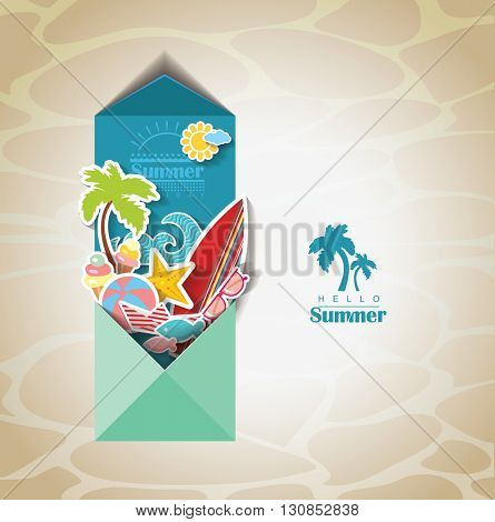 summer scrapbook. Holidays background