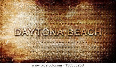 daytona beach, 3D rendering, text on a metal background