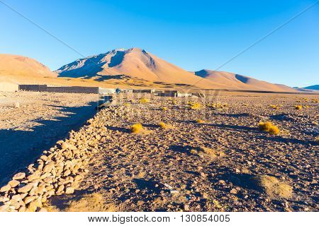 Sunset On The Desertic Andean Highlands, Southern Bolivia