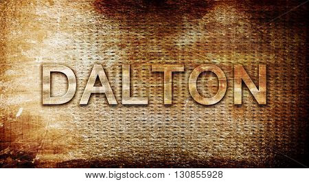 dalton, 3D rendering, text on a metal background