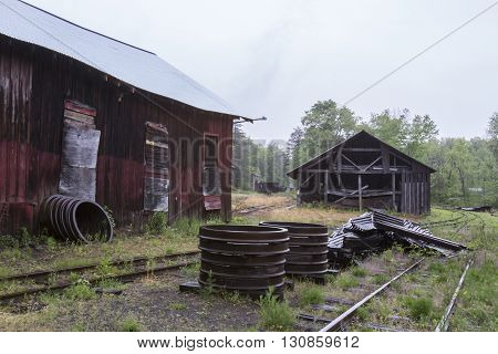 Sheds On Railroad Tracks