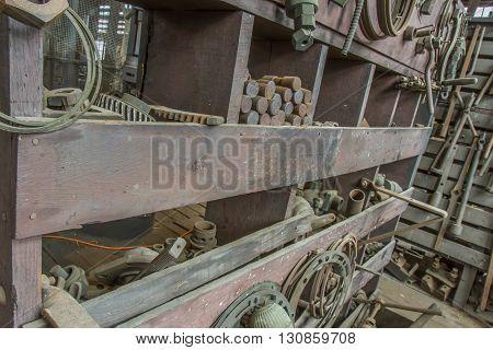 Rusty Tools In Workroom