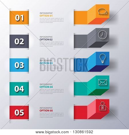 Modern Business Steps To Success Charts And Graphs Options Banner. Vector Illustration Modern Design