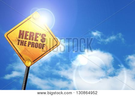 here's the proof, 3D rendering, a yellow road sign