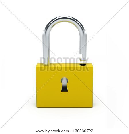 Unlocked Yellow Lock.