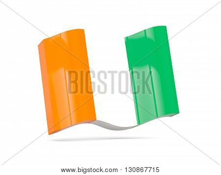 Wave Icon With Flag Of Cote D Ivoire