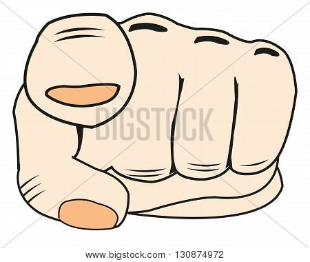 The Hand of the person with index fingers.Vector illustration