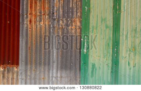 old rusty galvanized zinc wall. texture background poster