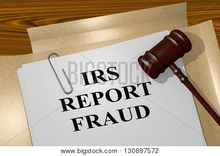 Irs Report Fraud Legal Concept