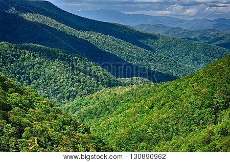 the springtime in the blue ridge mountains