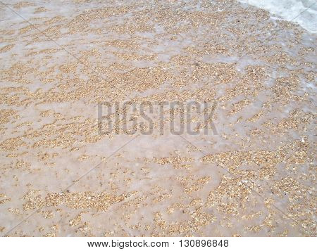 Sea water and sand, the sea wave texture