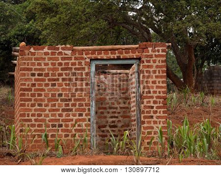 a typical house made of bricks in Malawi