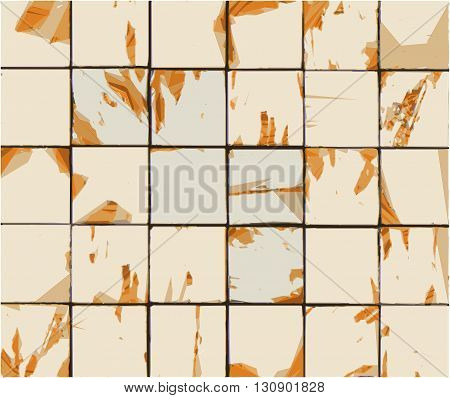 multiple abstract combined orange beige tile backdrop