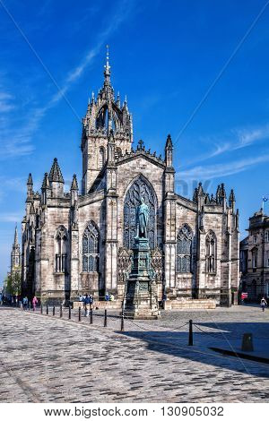 Famous St. Giles Cathedral in Edinburgh Scotland
