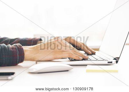 Keyboarding Female Hands