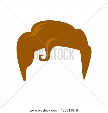 Super hero wig. Supperhero mask for face character in flat style. Masks of  of heroic, savior or superhero. Comic super hero wig vector illustration. Super hero photo props. Super hero hair