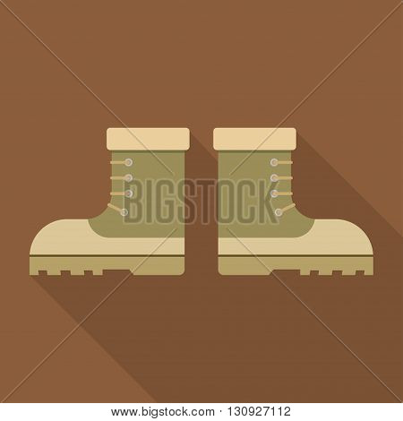 combat military boots leather combat soldier footwear vector illustration. Leather military boots and army uniform military boots. Soldier footwear military boots clothing uniform.