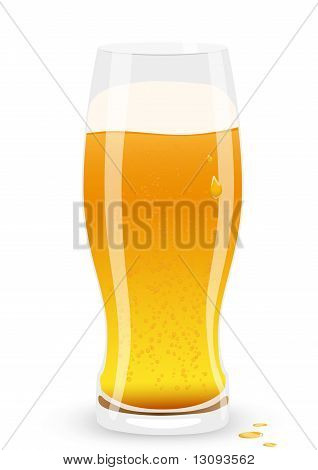 Lager beer. Vector illustration.