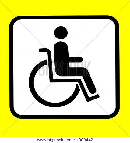 Sign Handicapped Person