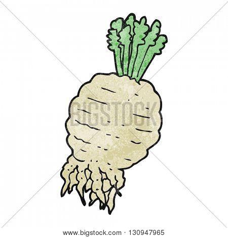 freehand textured cartoon turnip