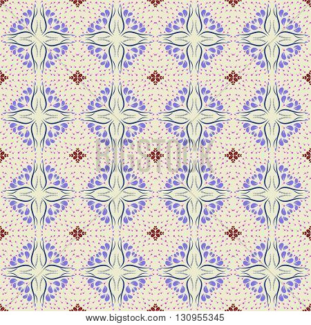 Floral seamless pattern background; editable color background.