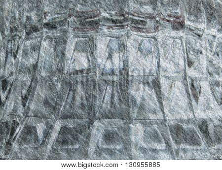 Glass Background with Asbestos Texture and Square Pattern