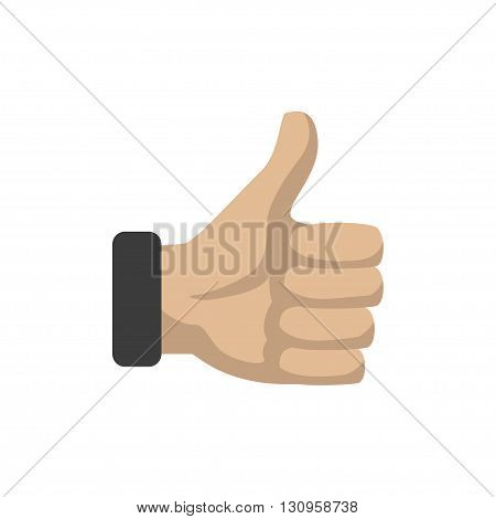 Thumps up on a white background. Vector illustration eps10