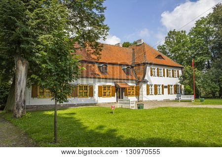 BEDOMIN, POLAND - AUGUST 14: Historic manor house, which was born Jozef Wybicki on August 14, 2011 in Bedomin.