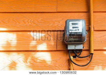 An Smart Meter In Soft Light