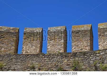 Fortress Vallum Defensive Wall Over Blue Sky