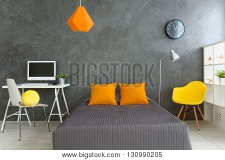 Big Comfortable Bed In Modern Room