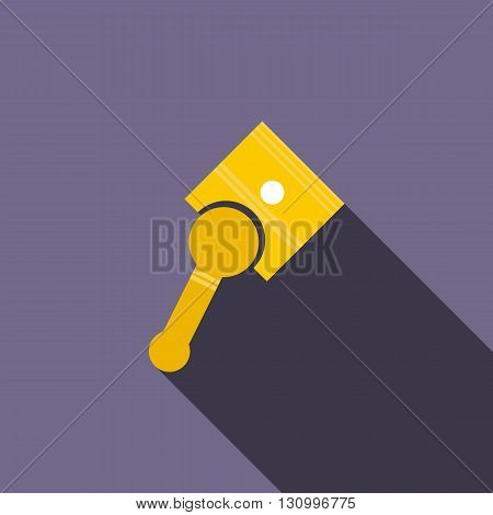 Car piston icon in flat style on a violet background