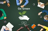 Go Green Environmental Conservation Sustainability Nature Concept poster