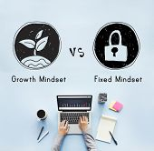 Mindset Opposite Positivity Negativity Thinking Concept poster