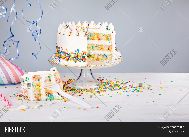 Confetti Birthday Cake Image Photo Free Trial Bigstock