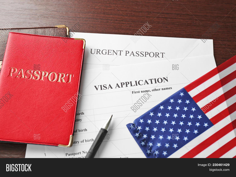 passports american flag powerpoint template passports american