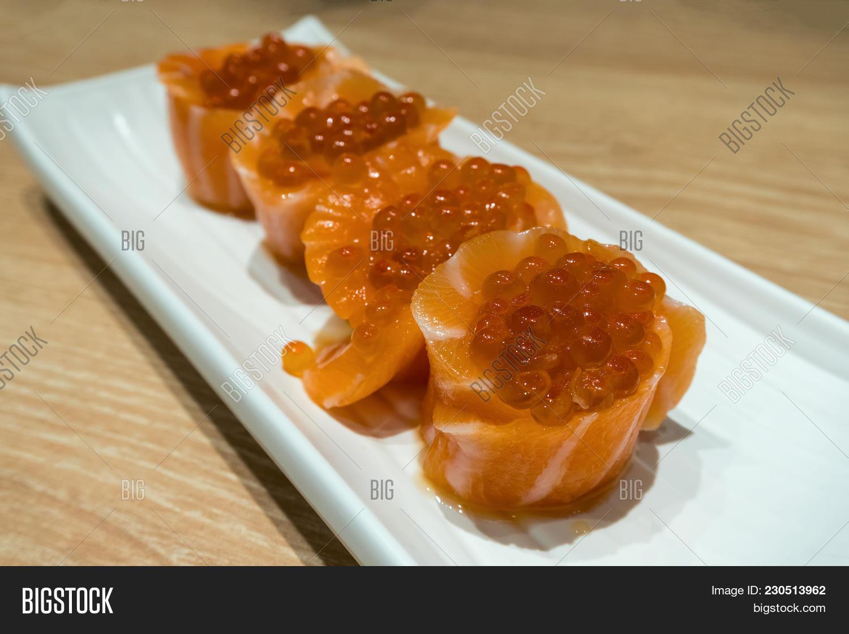 Fresh Raw Salmon Sushi Image & Photo (Free Trial) | Bigstock