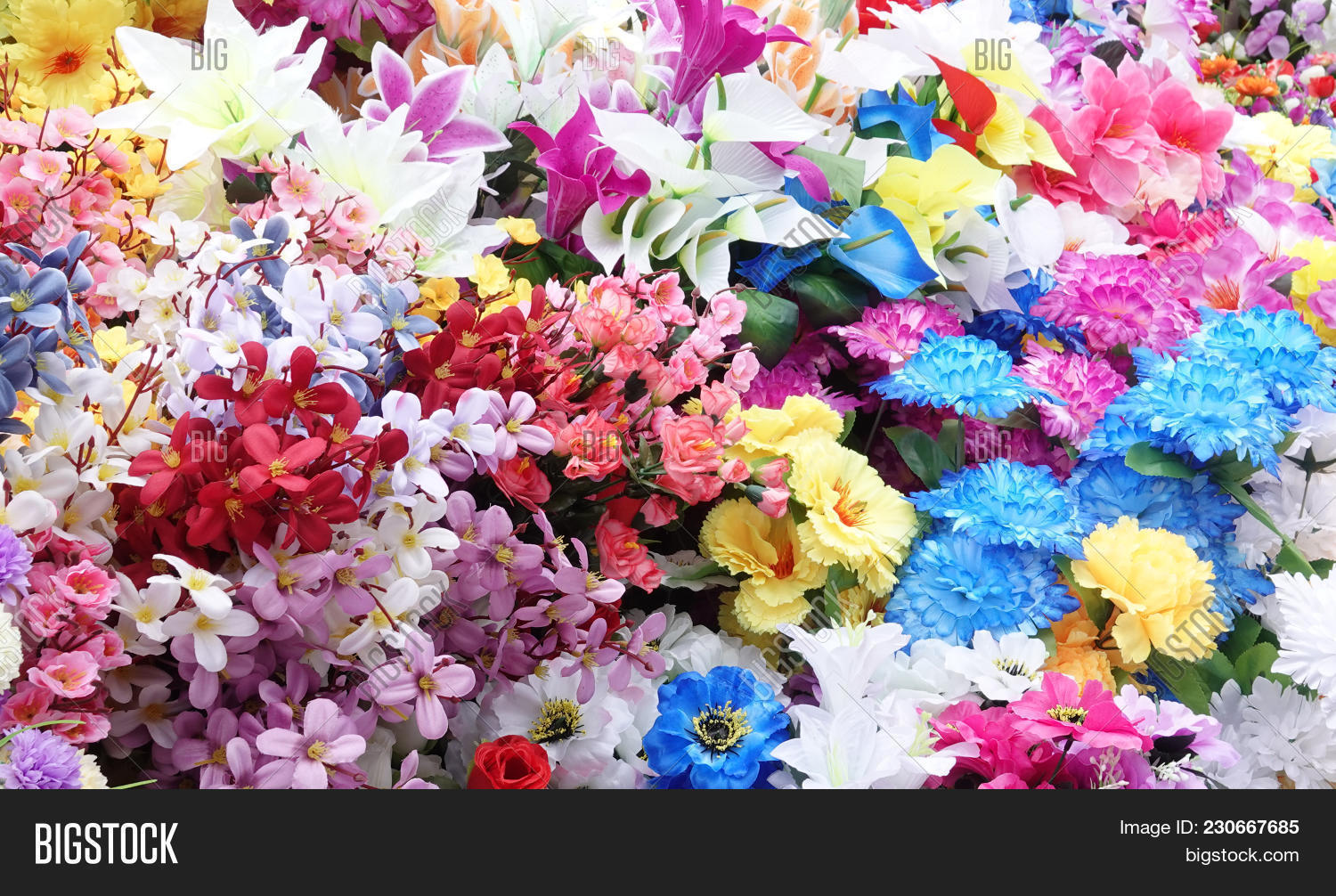 Artificial Flowers Image Photo Free Trial Bigstock