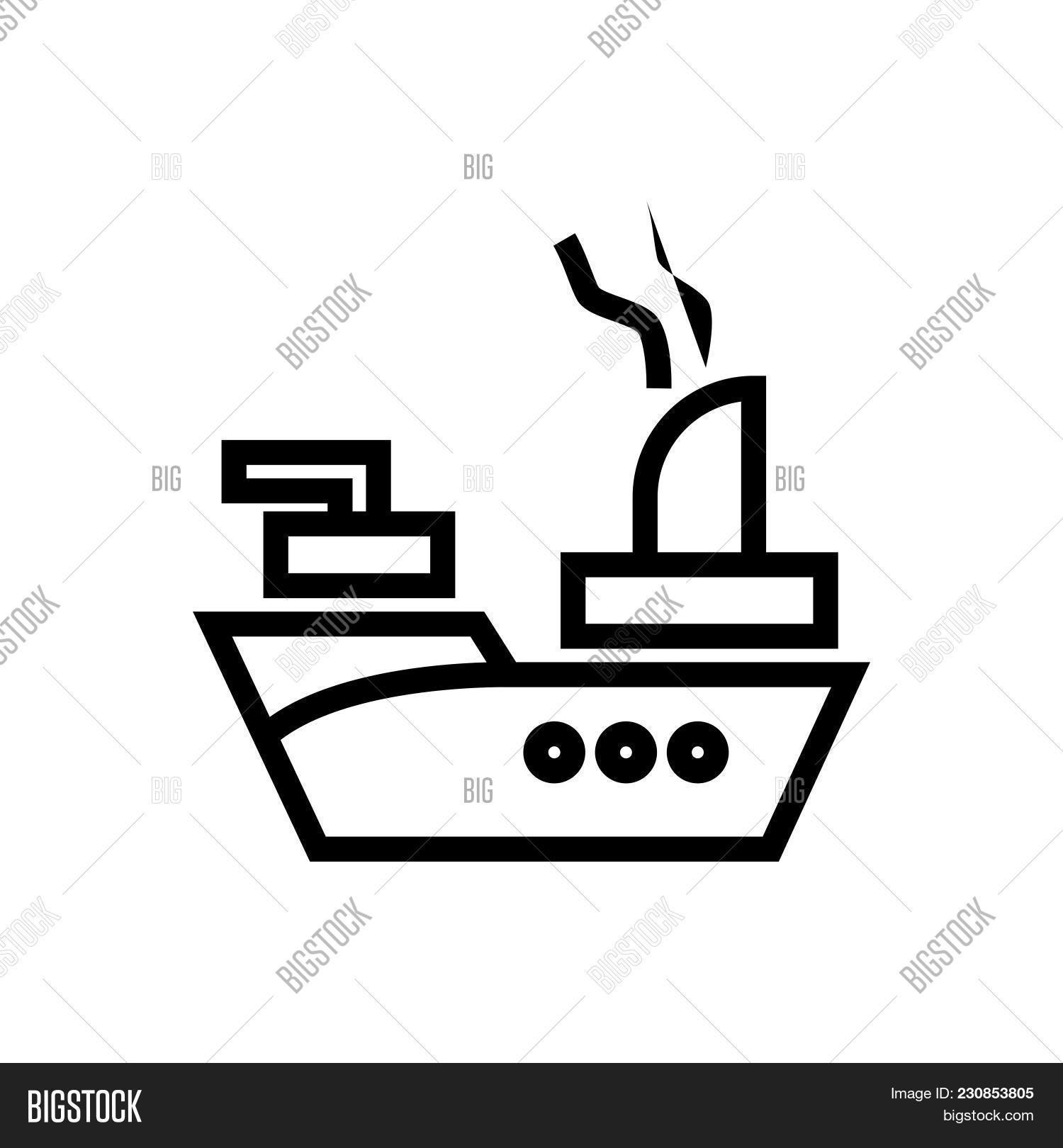 Floating War Vessel Vector Photo Free Trial Bigstock
